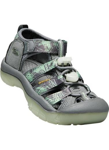 Keen Keen Newport H2 Çocuk Sandalet Gri/Yeşil Gri